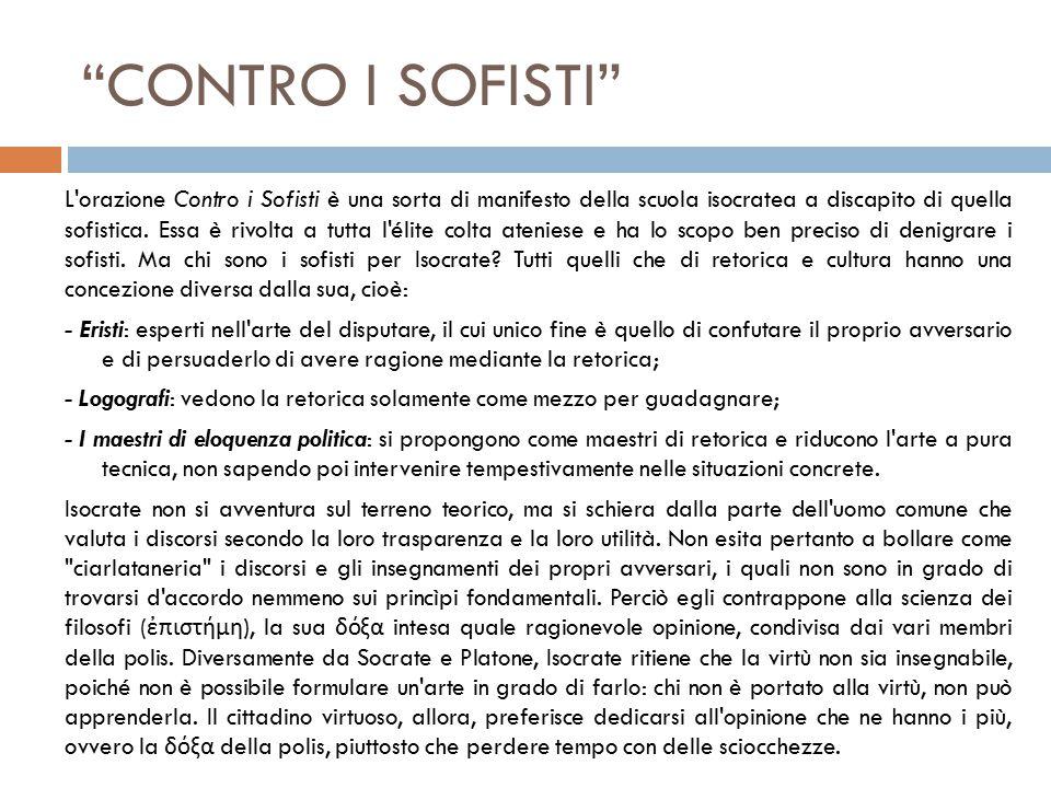 CONTRO I SOFISTI