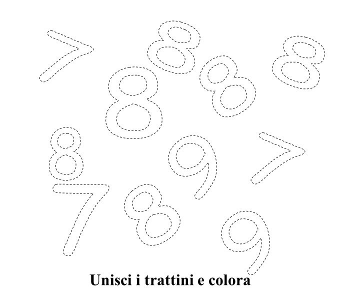 Unisci i trattini e colora