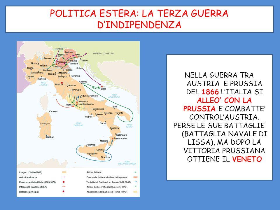 POLITICA ESTERA: LA TERZA GUERRA D'INDIPENDENZA