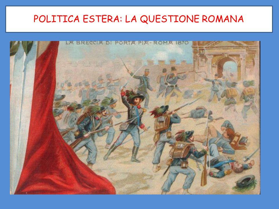 POLITICA ESTERA: LA QUESTIONE ROMANA