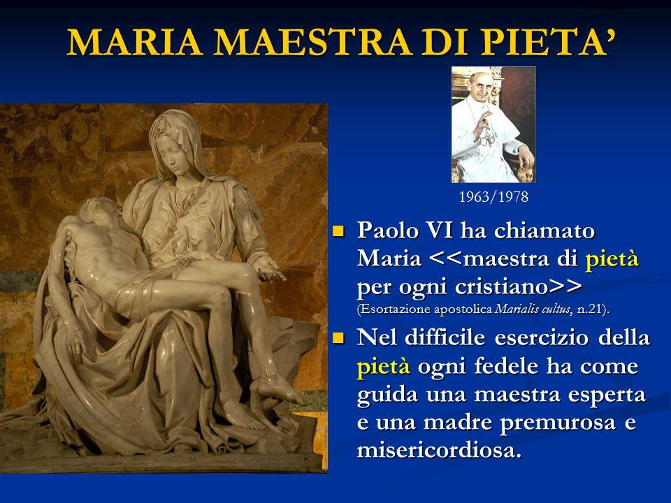 MARIA MAESTRA DI PIETA'