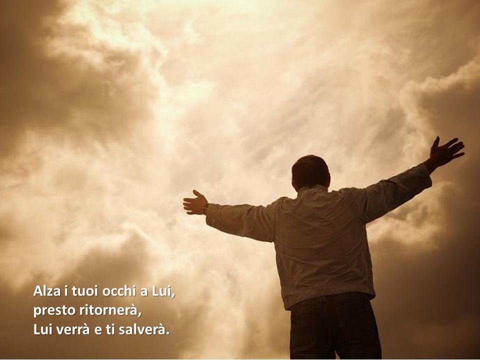 Alza i tuoi occhi a Lui, presto ritornerà, Lui verrà e ti salverà.