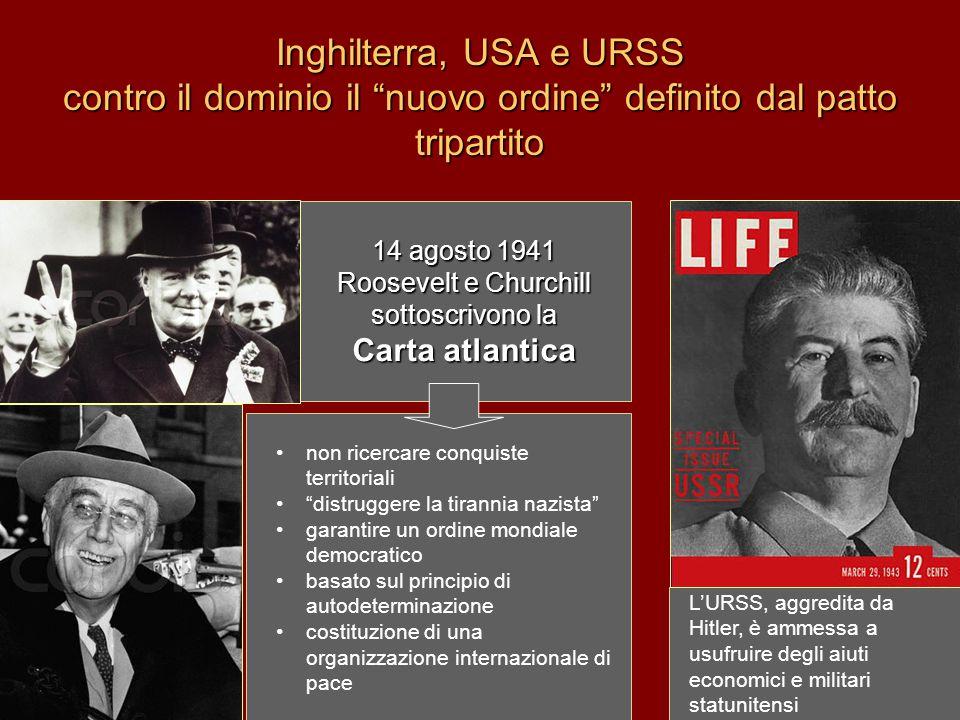 14 agosto 1941 Roosevelt e Churchill sottoscrivono la