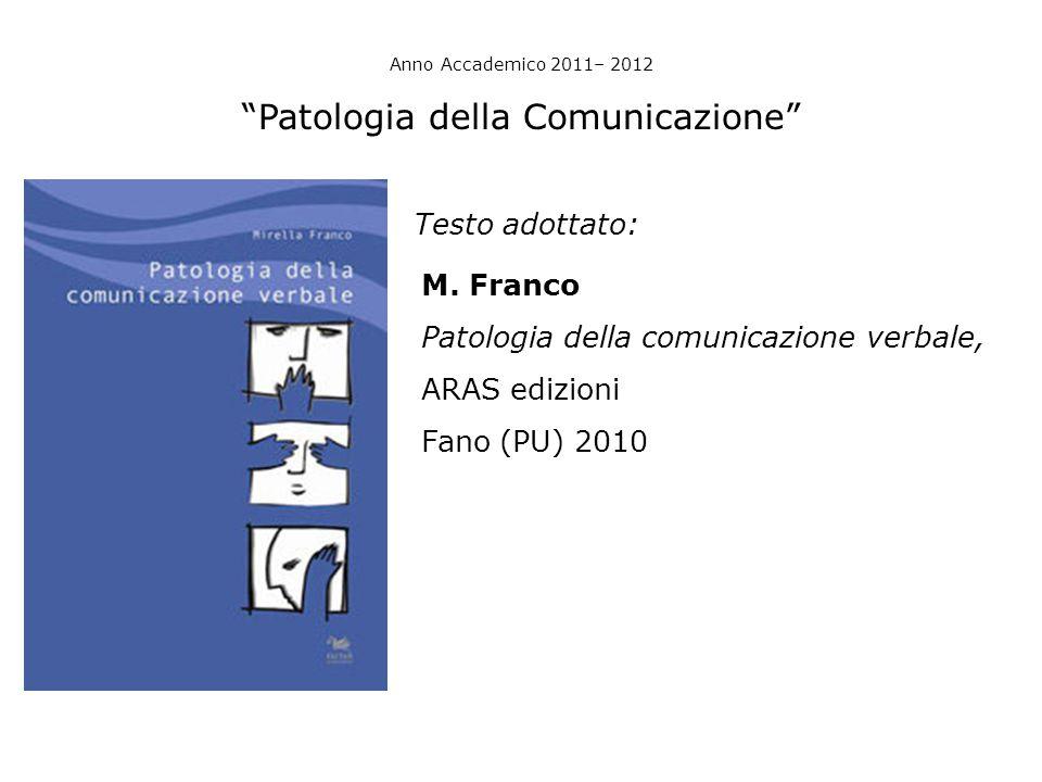 Patologia della Comunicazione