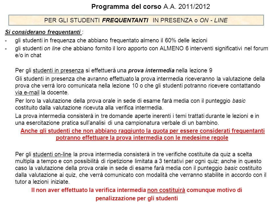 penalizzazione per gli studenti