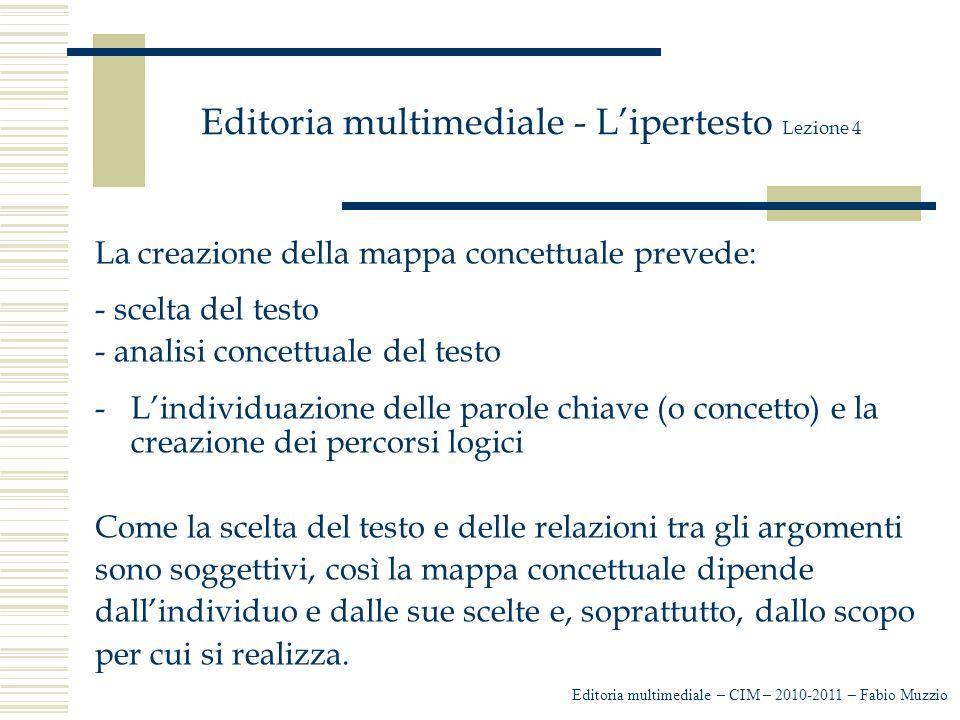 Editoria multimediale - L'ipertesto Lezione 4