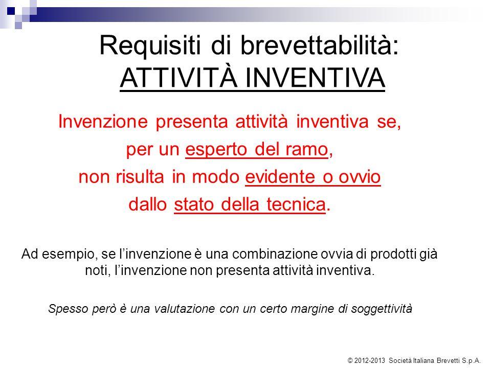 Requisiti di brevettabilità: ATTIVITÀ INVENTIVA