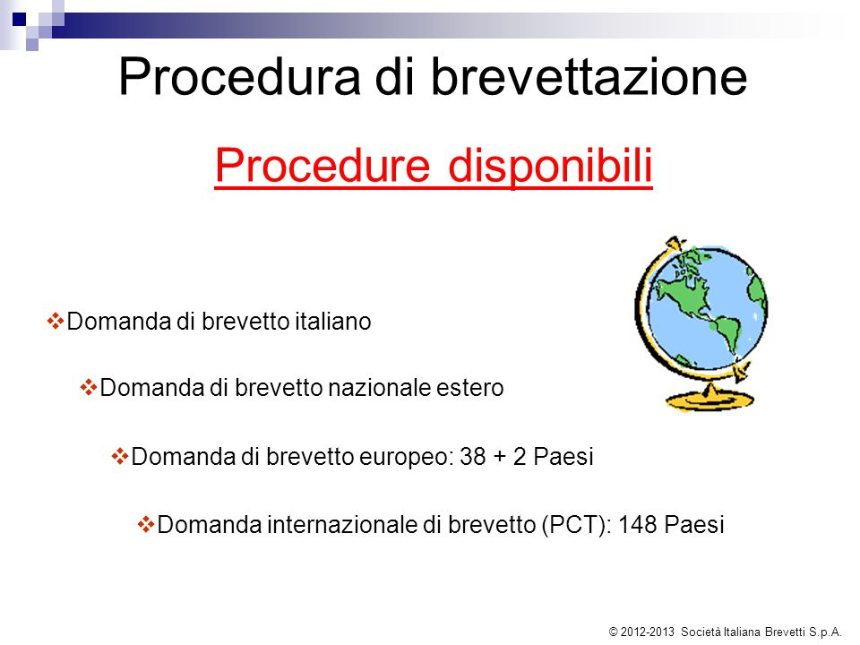 Procedura di brevettazione