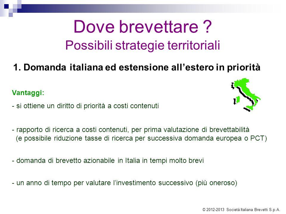 1. Domanda italiana ed estensione all'estero in priorità