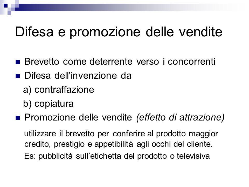 Difesa e promozione delle vendite