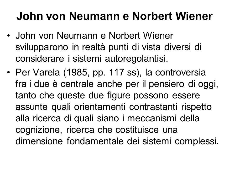 John von Neumann e Norbert Wiener
