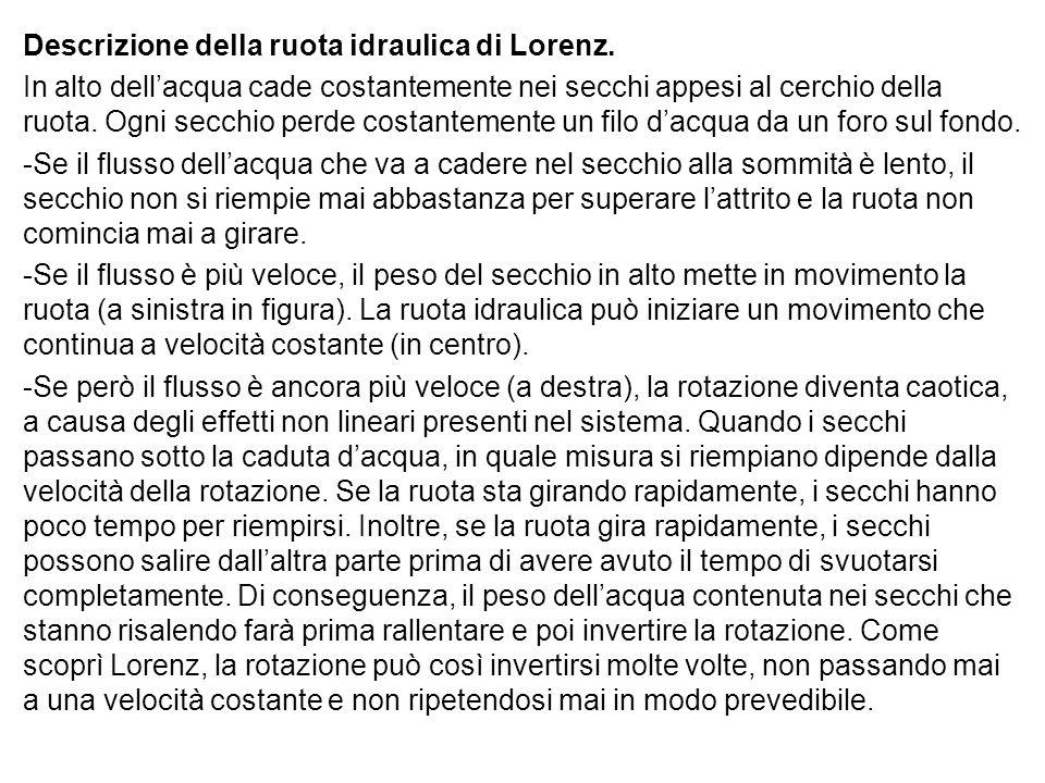 Descrizione della ruota idraulica di Lorenz.