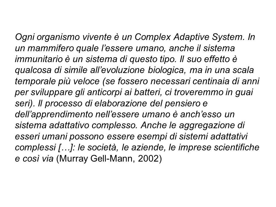 Ogni organismo vivente è un Complex Adaptive System