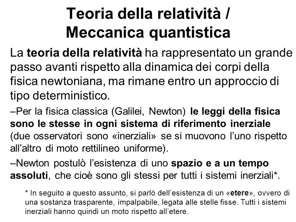 Teoria della relatività / Meccanica quantistica