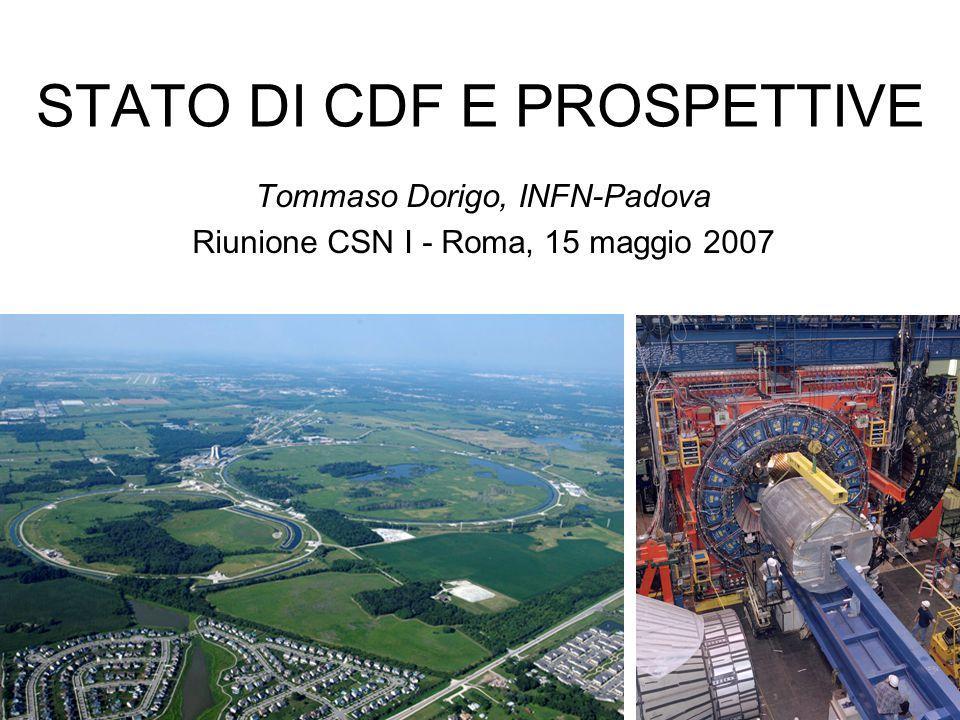 STATO DI CDF E PROSPETTIVE
