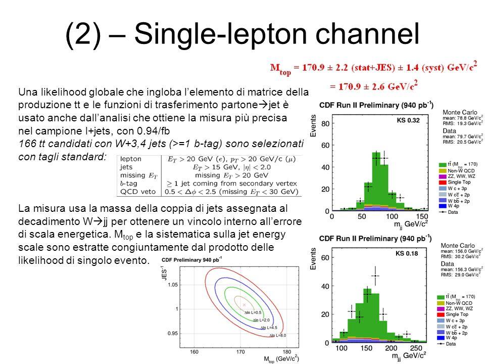 (2) – Single-lepton channel