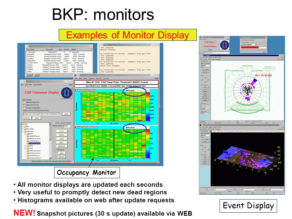 Examples of Monitor Display