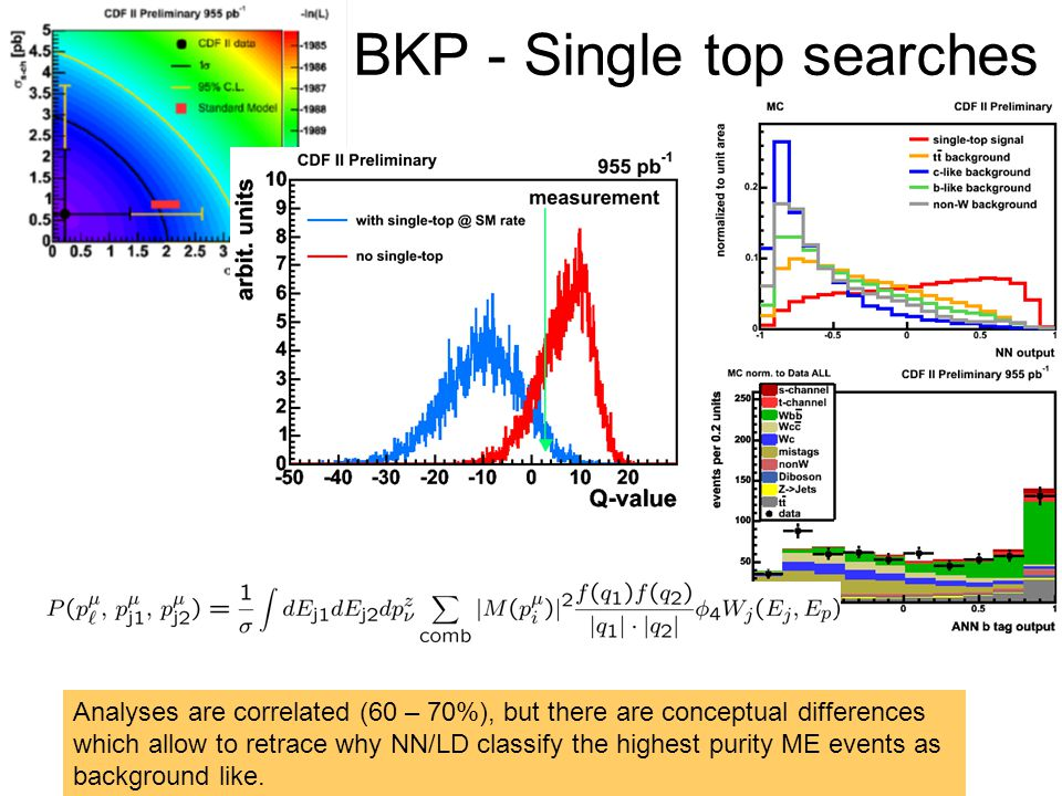 BKP - Single top searches