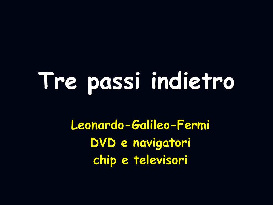 Leonardo-Galileo-Fermi DVD e navigatori chip e televisori