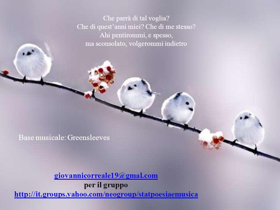 giovannicorreale19@gmal.com per il gruppo