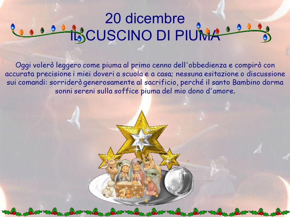 20 dicembre IL CUSCINO DI PIUMA