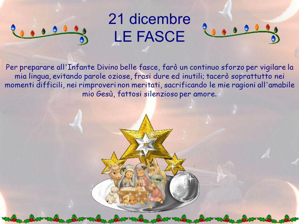 21 dicembre LE FASCE.