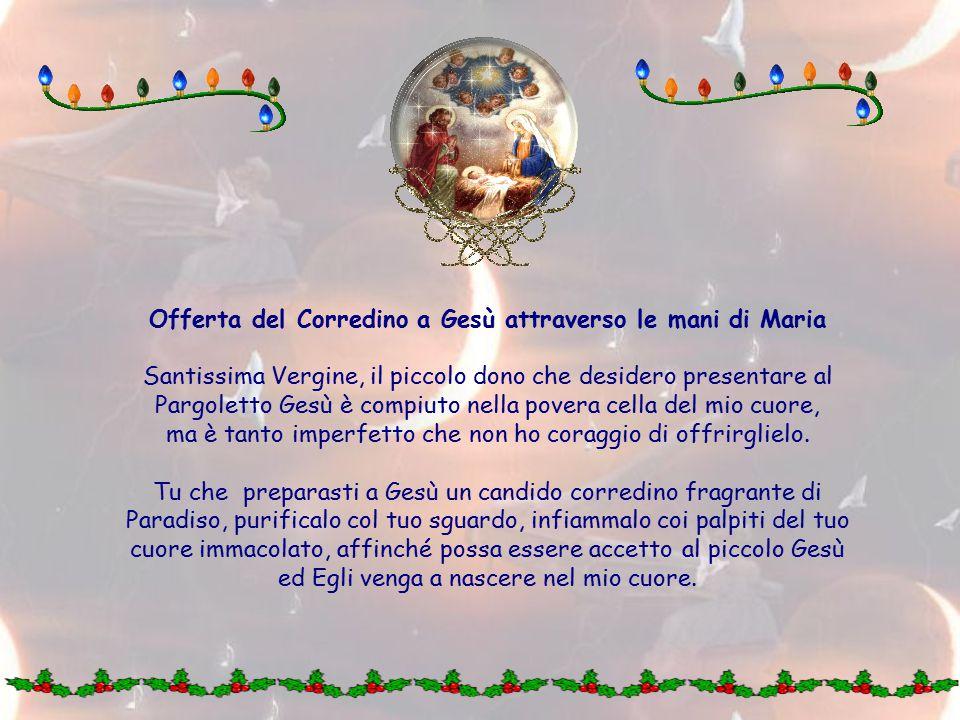 Offerta del Corredino a Gesù attraverso le mani di Maria