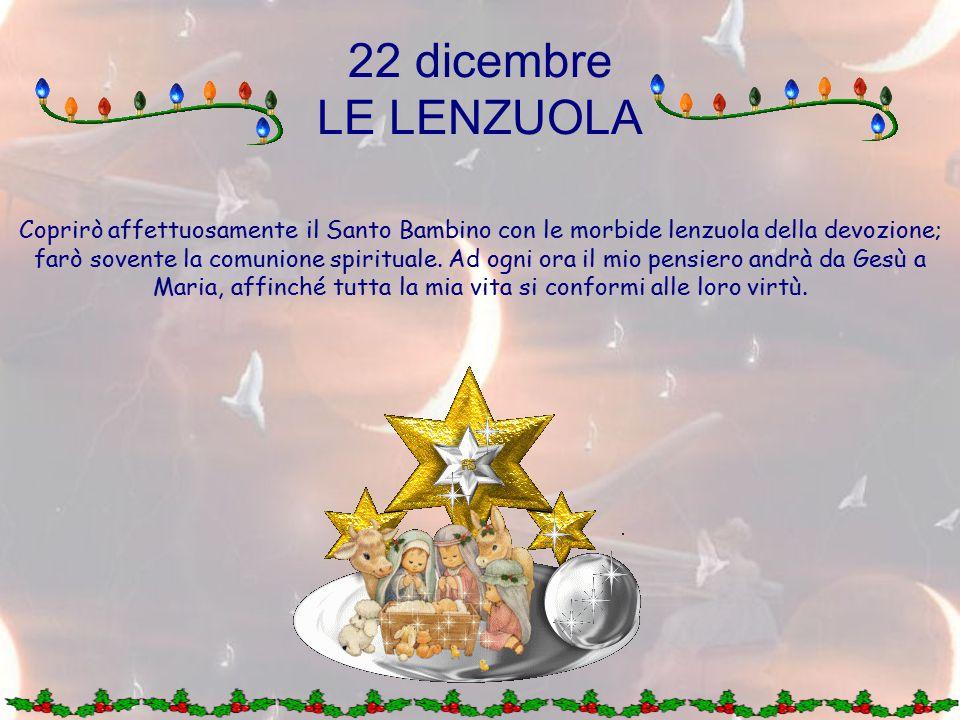 22 dicembre LE LENZUOLA.