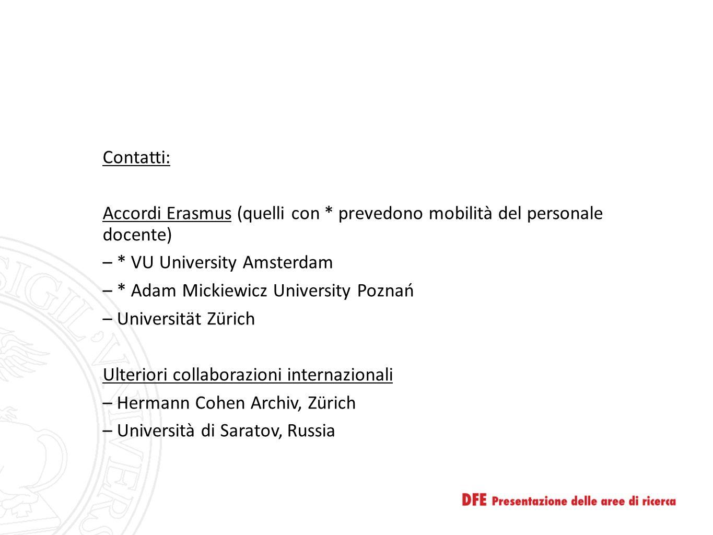 Contatti: Accordi Erasmus (quelli con