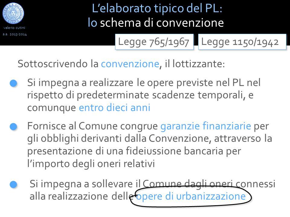 L'elaborato tipico del PL: lo schema di convenzione