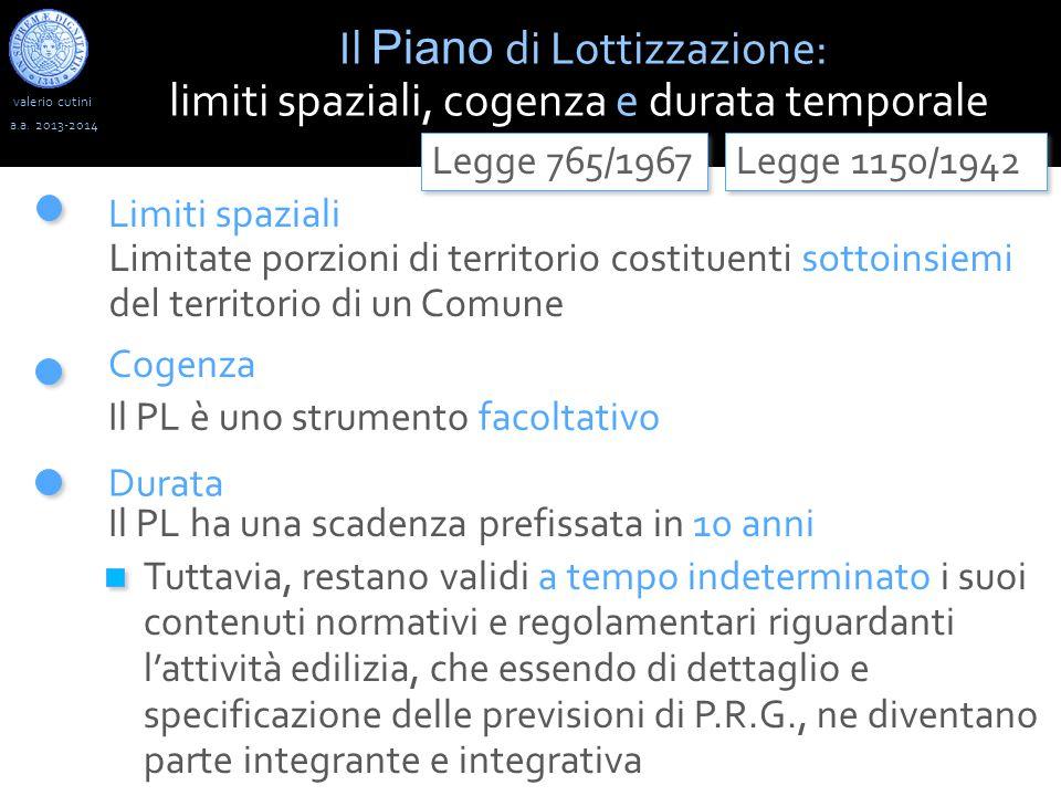 Il Piano di Lottizzazione: limiti spaziali, cogenza e durata temporale