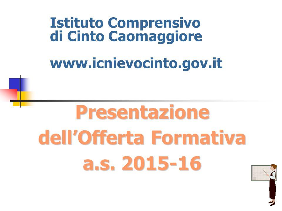 Istituto Comprensivo di Cinto Caomaggiore www.icnievocinto.gov.it