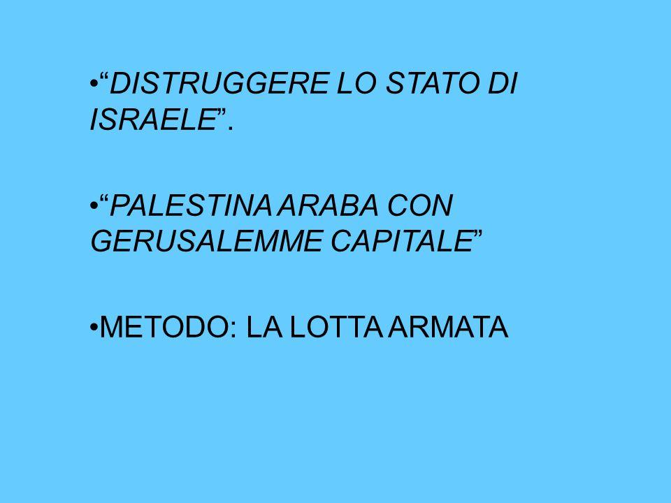 DISTRUGGERE LO STATO DI ISRAELE .