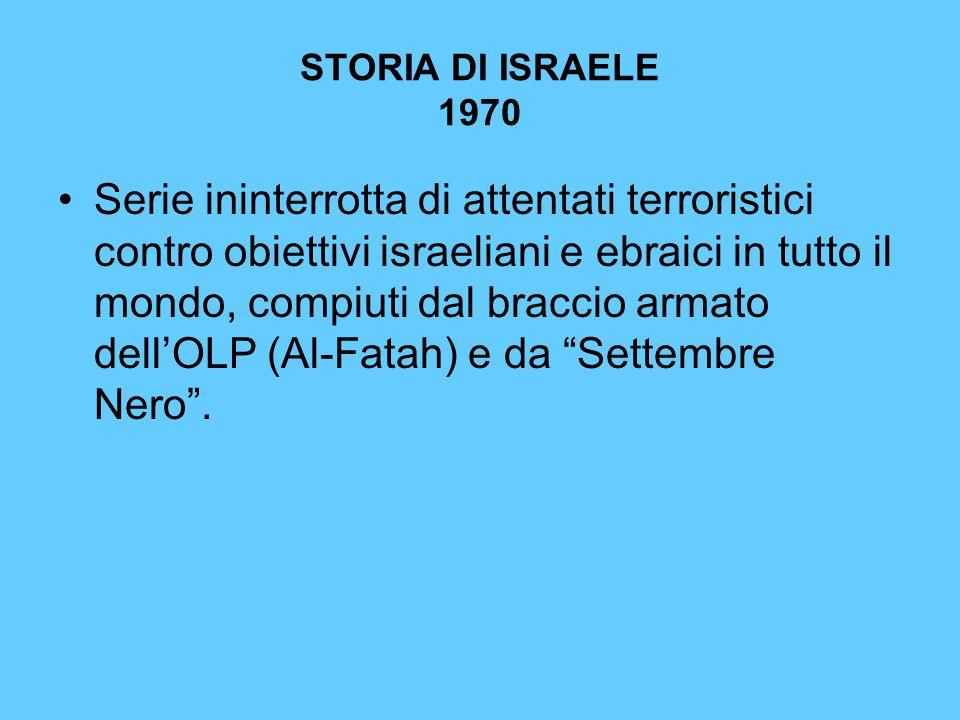 STORIA DI ISRAELE 1970
