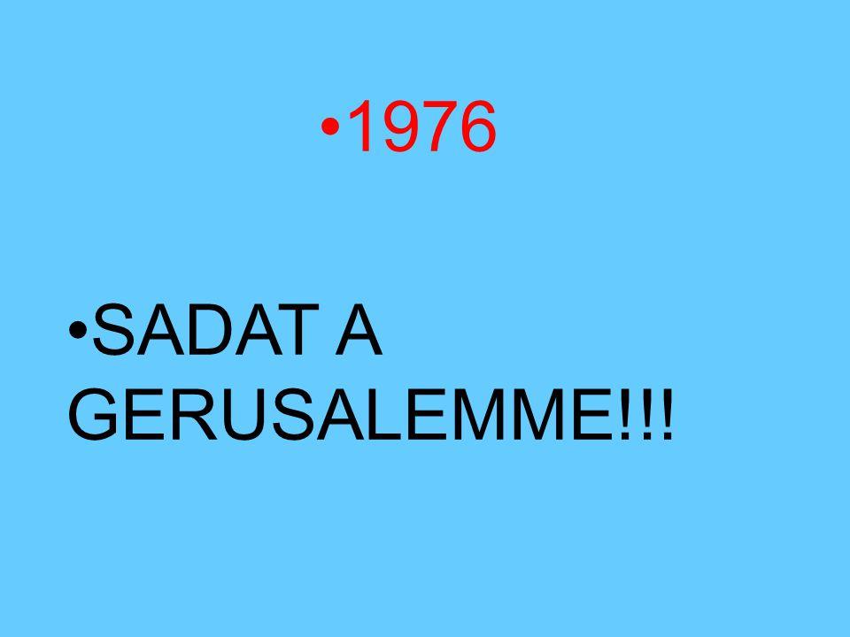 1976 SADAT A GERUSALEMME!!!