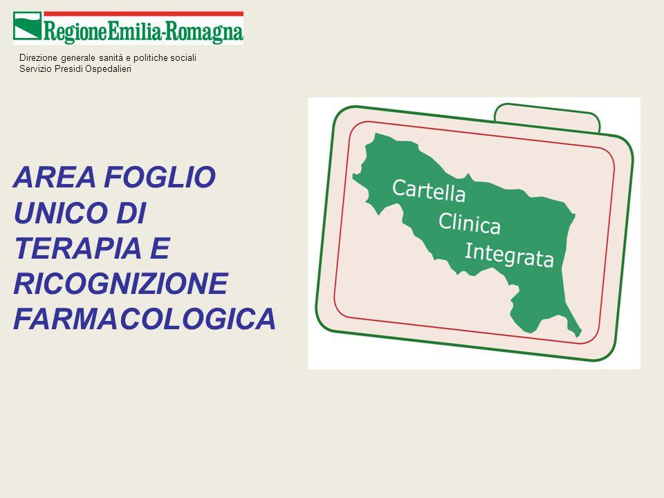 AREA FOGLIO UNICO DI TERAPIA E RICOGNIZIONE FARMACOLOGICA
