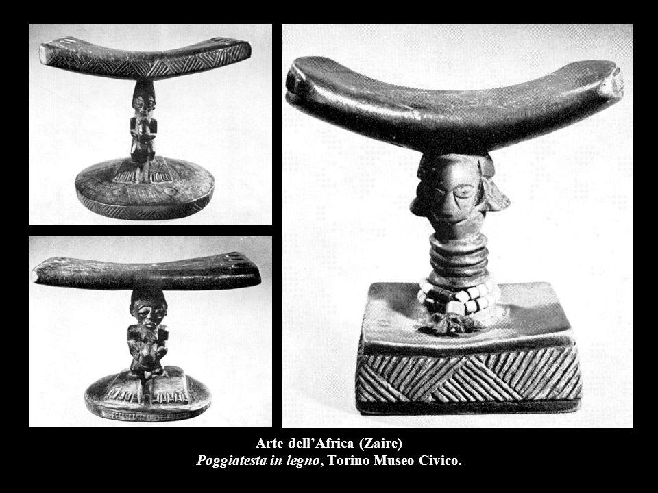 Arte dell'Africa (Zaire) Poggiatesta in legno, Torino Museo Civico.
