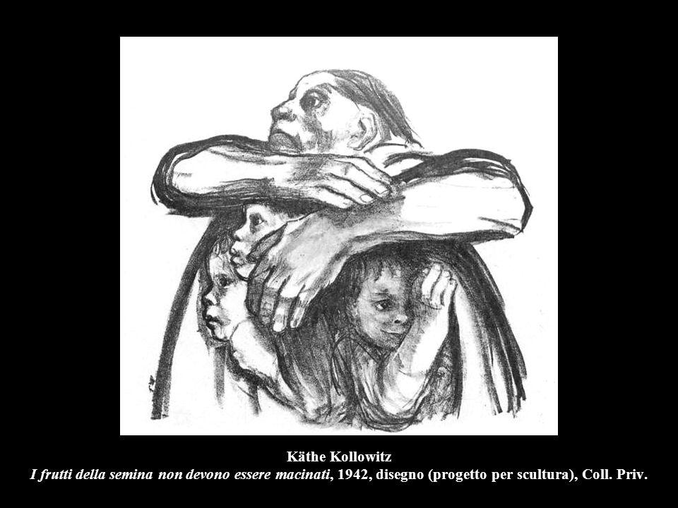Käthe Kollowitz I frutti della semina non devono essere macinati, 1942, disegno (progetto per scultura), Coll.