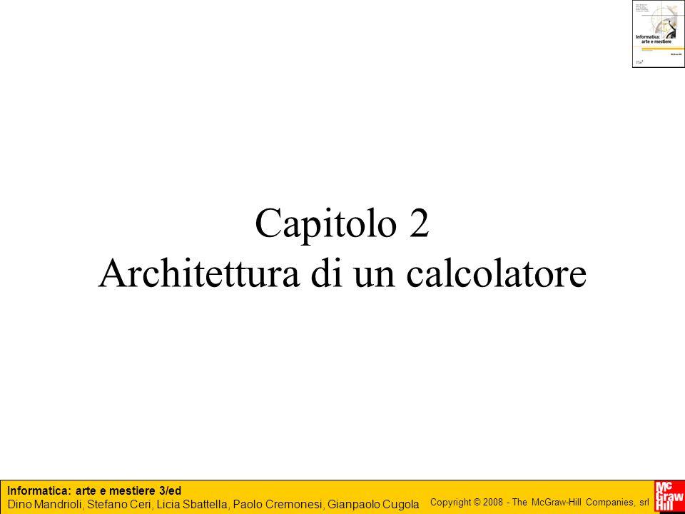 Capitolo 2 Architettura di un calcolatore