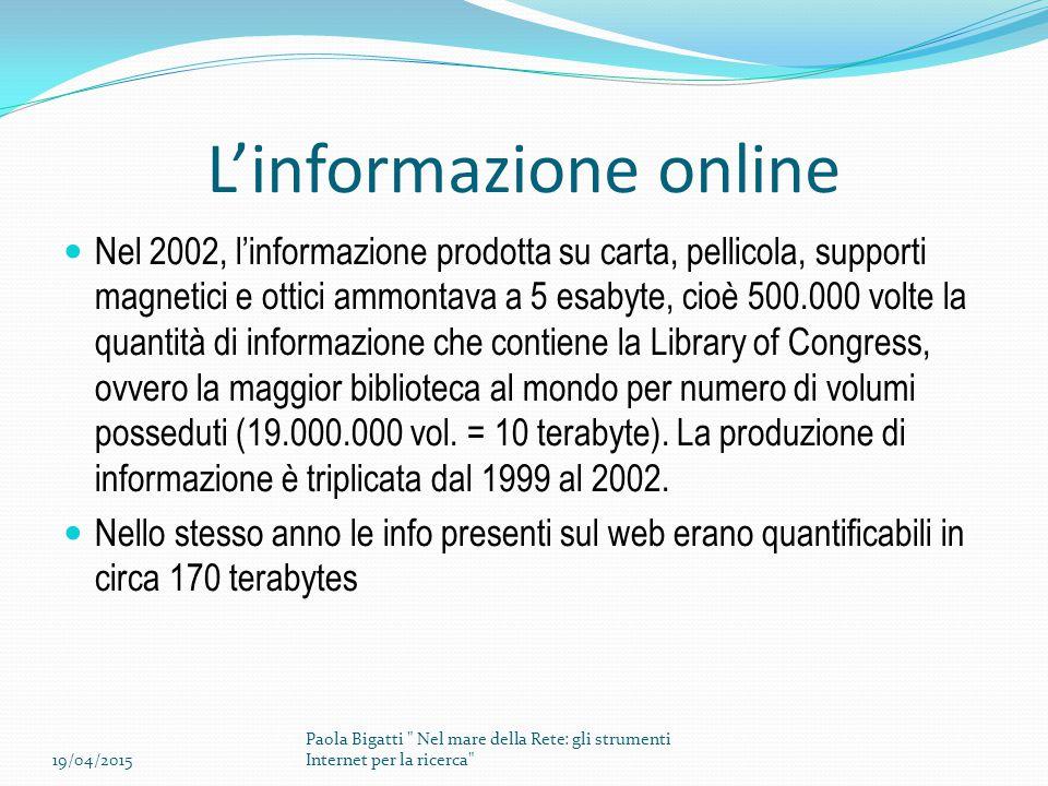 L'informazione online