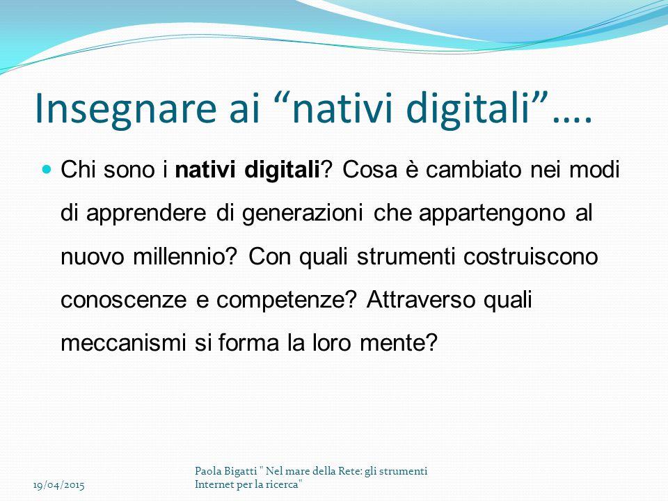 Insegnare ai nativi digitali ….