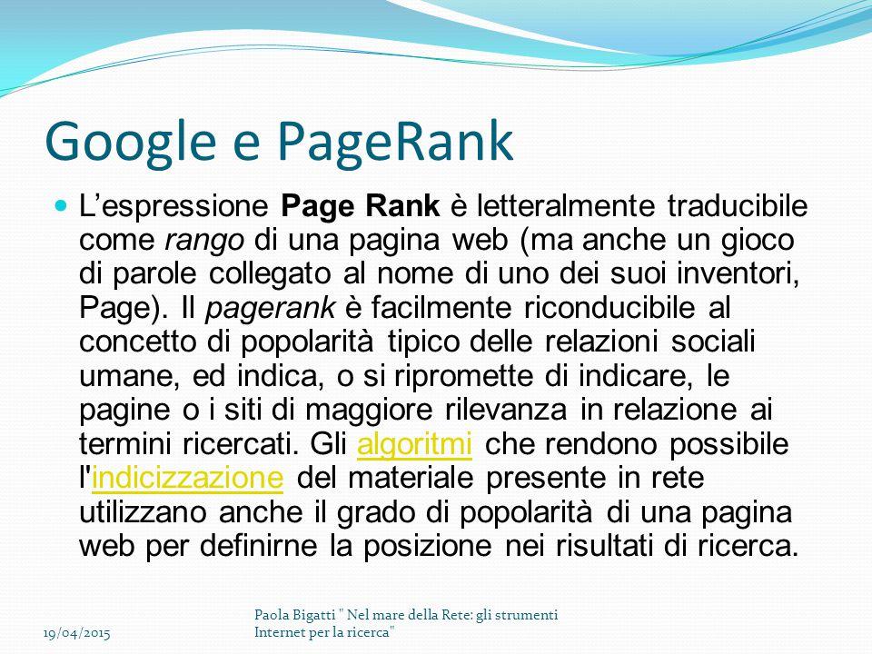 Google e PageRank