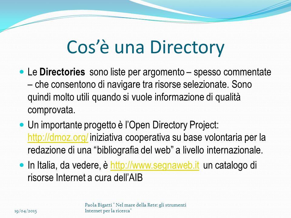 Cos'è una Directory