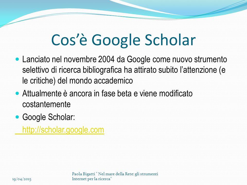 Cos'è Google Scholar