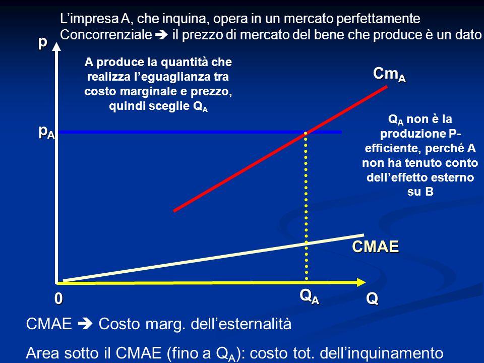 CMAE  Costo marg. dell'esternalità