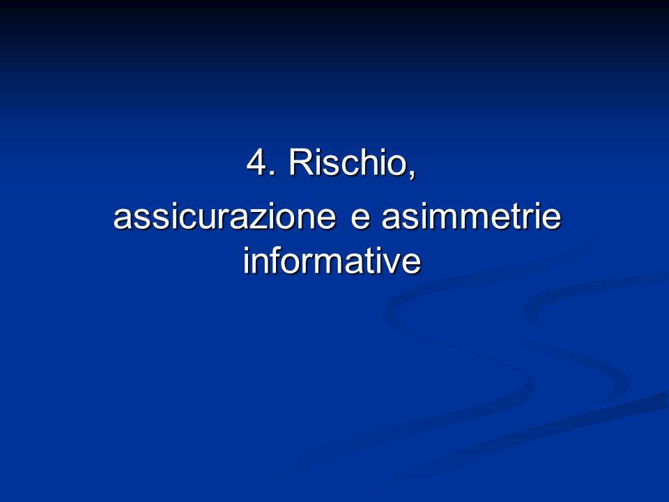 assicurazione e asimmetrie informative