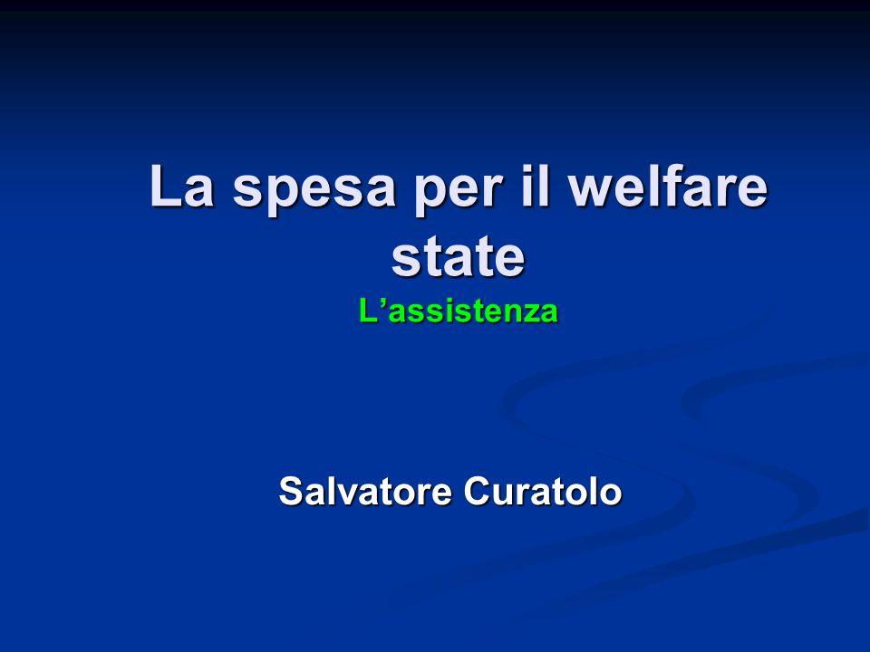 La spesa per il welfare state L'assistenza