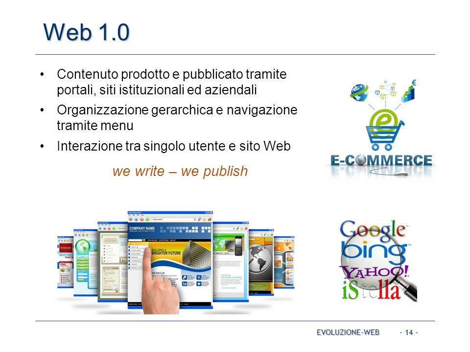 Web 1.0 we write – we publish