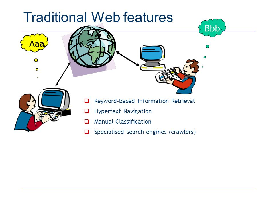Traditional Web features