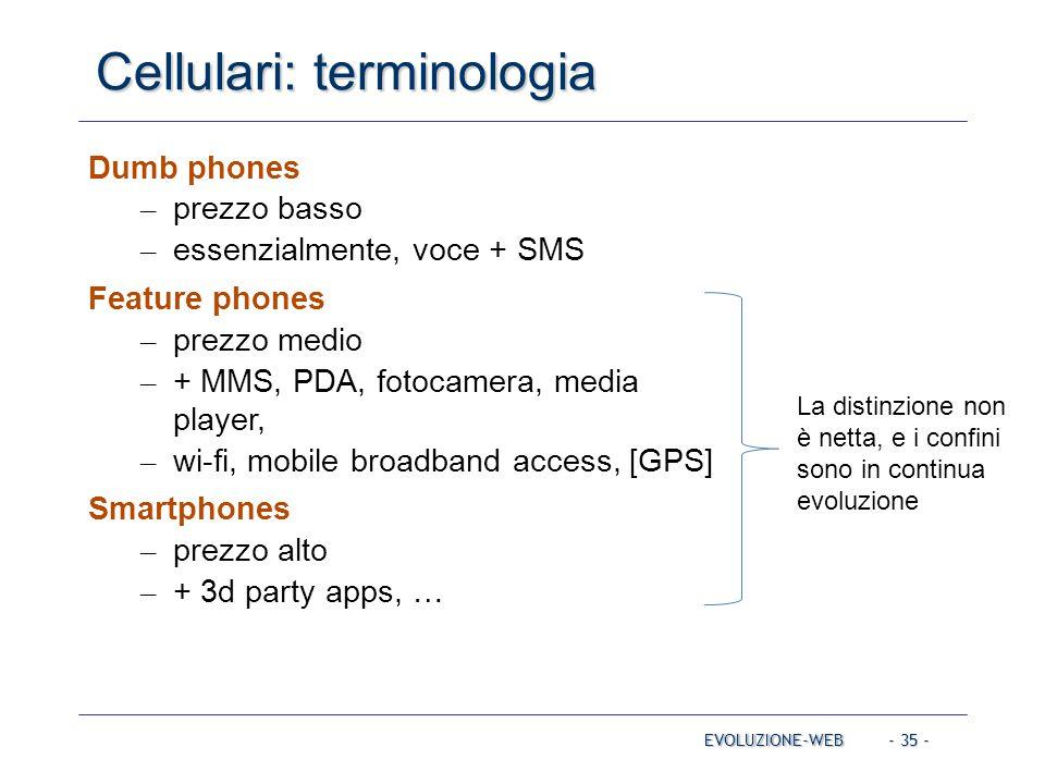 Cellulari: terminologia